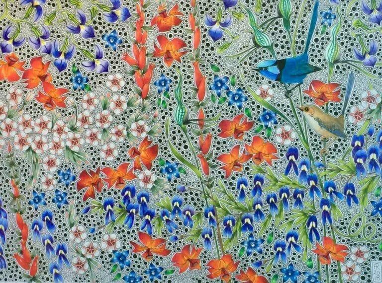 """Flornamental"" Art Gallery - Wrens Artwork by Hilde Ranson"