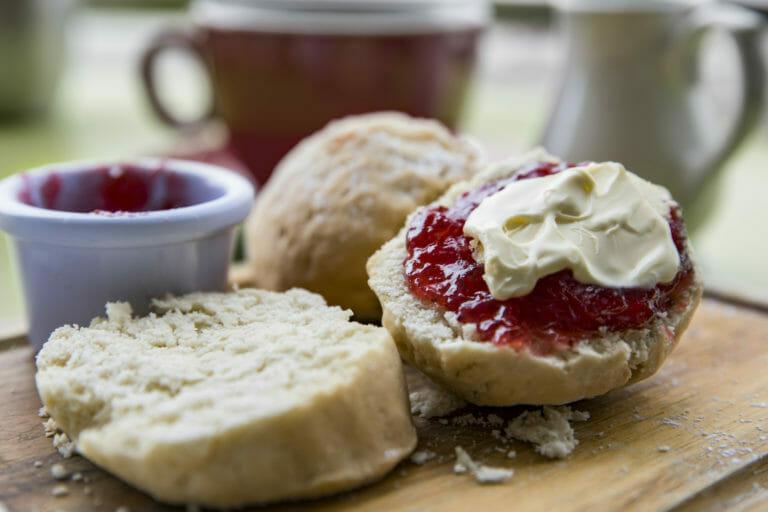 Devonshire tea, scones and cream at the Porongurup Inn