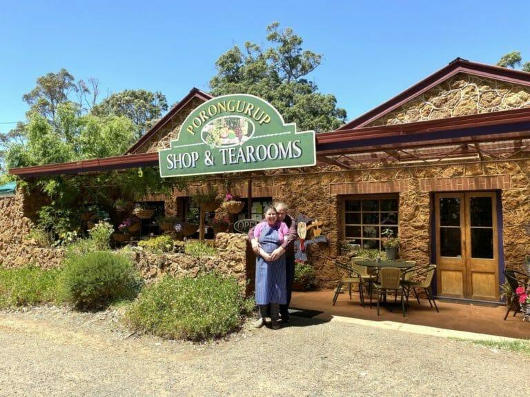 Di and Scott Drummond outside their Porongurup Inn