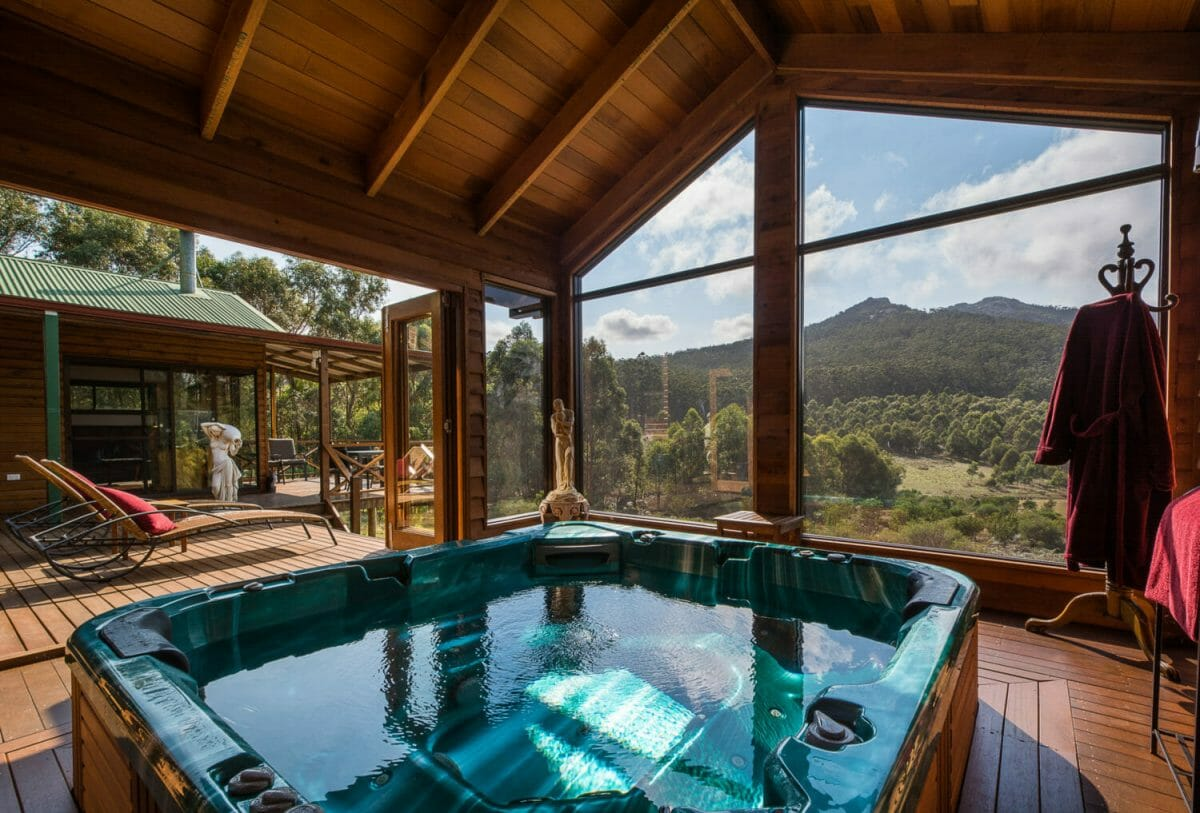 Enjoy a luxurious spa whilst taking in the views at Woodlands Retreat