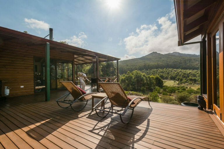 Sit back and enjoy the views from Woodlands Retreat