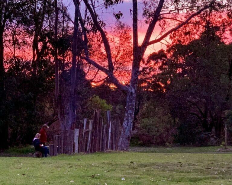 Sunset at Porongurup Range Tourist Park