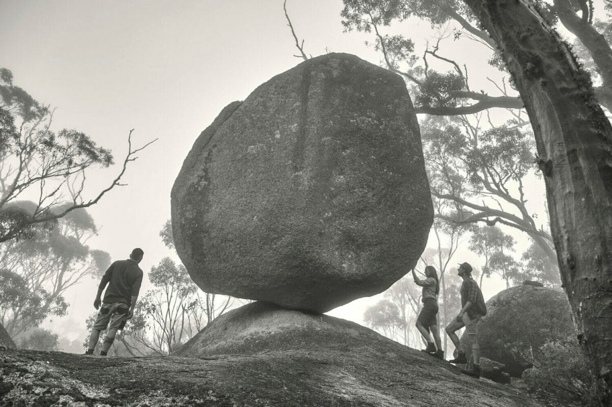 Balancing Rock at Castle Rock Granite Skywalk, Porongurup